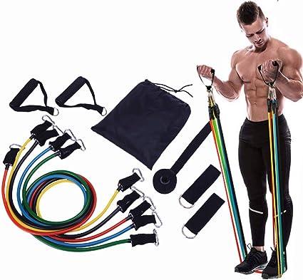 Fitness Equipment Resistance Band Elastic Gym Training Yoga Tube Rope Charm