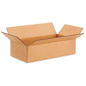 "IDL Packaging - B-1684-25 Small Corrugated Shipping Boxes 16""L x 8""W x 4""H (Pack of 25) - Excellent Choice of Strong Packing Boxes for USPS, UPS, FedEx Shipping"