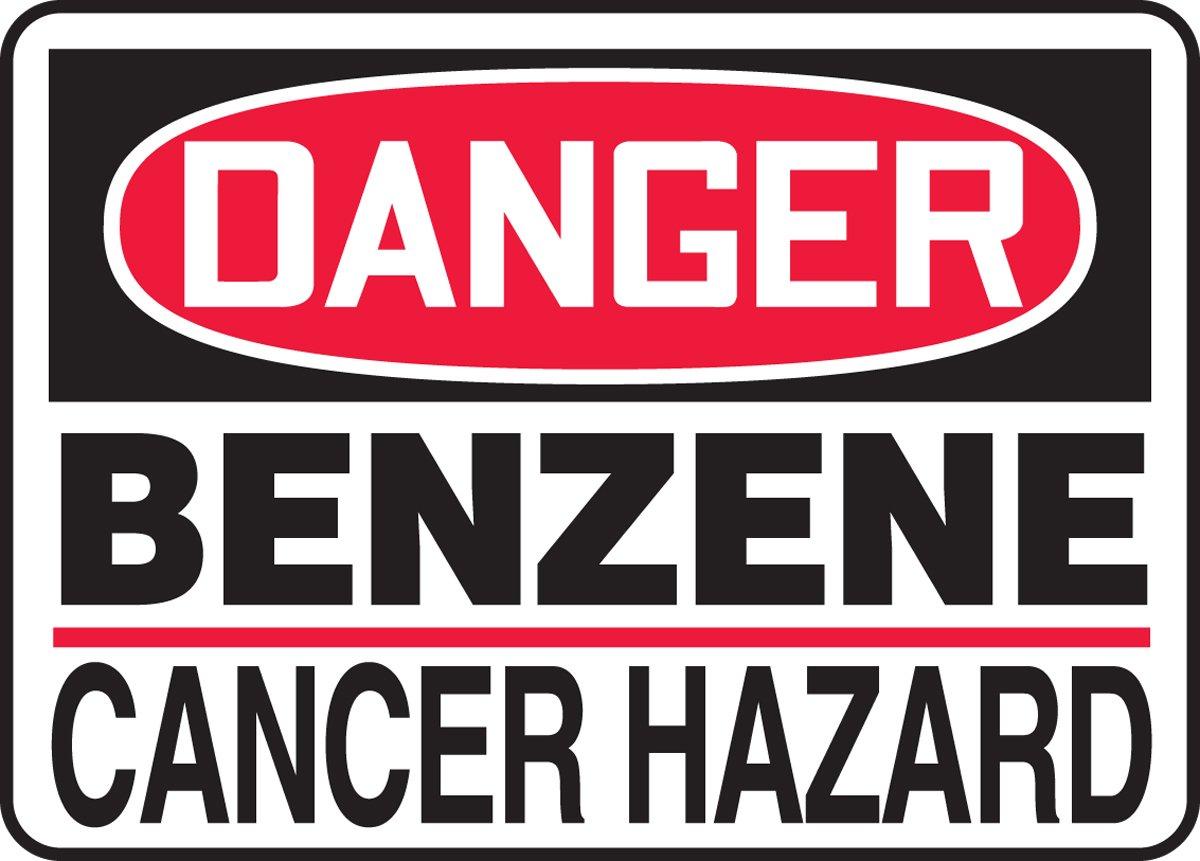 MCAW014XF AccuformDanger Benzene Cancer Hazard Safety Sign Dura-Fiberglass 10 x 14 Inches