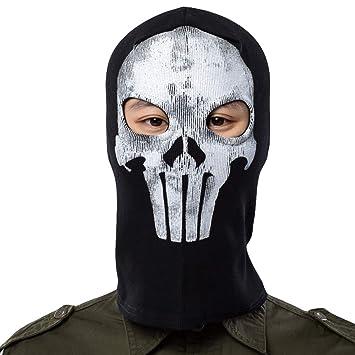 LIDAUTO Cráneo de Motocicleta Máscara de Fantasma de Halloween A Prueba de Viento y a Prueba de