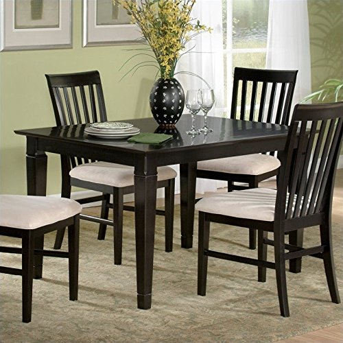 Atlantic Furniture Deco Dining Table in Espresso - 36 x 48 Solid Table
