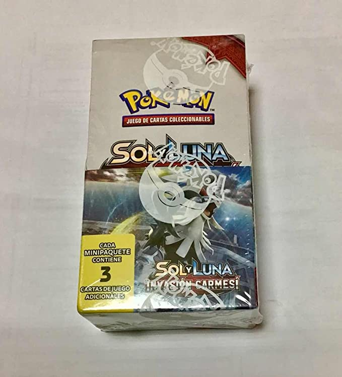 Pokémon: Sol y Luna - Sobre de 3 cartas Caja de 24 sobres ...