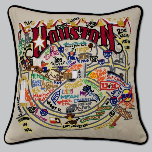 Catstudio Houston Pillow - Original Geography Collection Home Décor 071(CS) by Catstudio Embroidered Pillow
