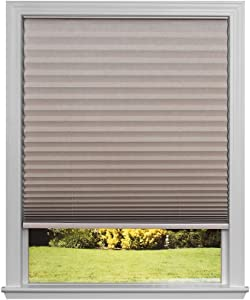 """Easy Lift Trim-at-Home Cordless Pleated Light Blocking Fabric Shade Natural, 30 in x 64 in, (Fits windows 19""""- 30"""")"""