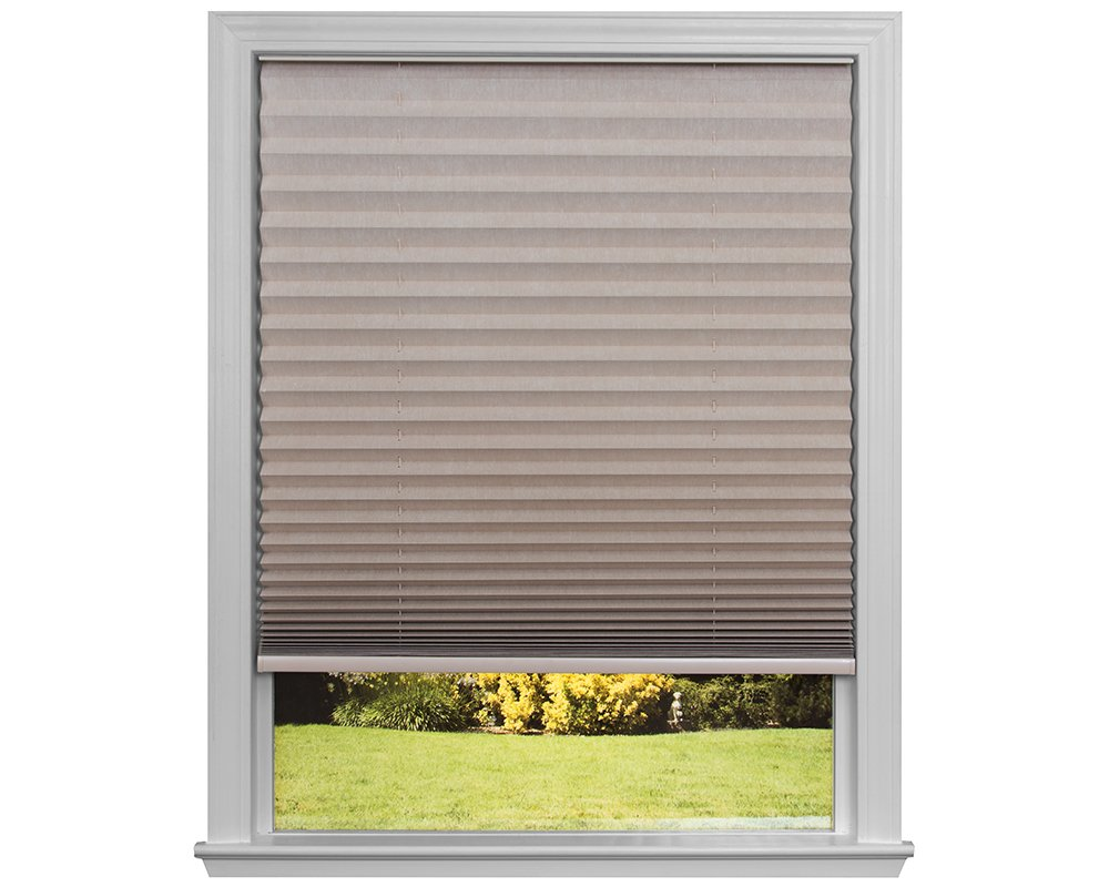 Easy Lift Trim-at-Home Cordless Pleated Light Blocking Fabric Shade Natural, 30 in x 64 in, (Fits windows 19''- 30'')