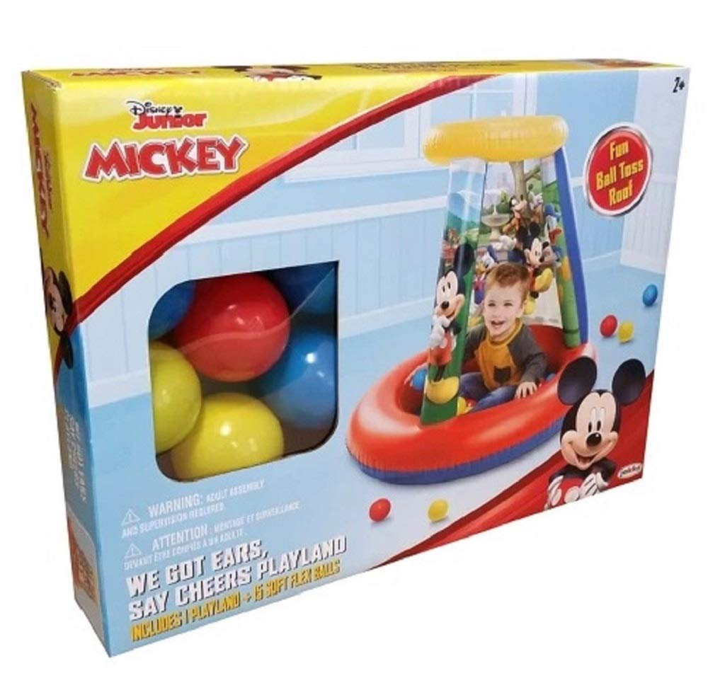 2+ Disney Junior Mickey Mouse We Got Ears Say Cheers Inflatable Playland with 15 Soft Flex Balls