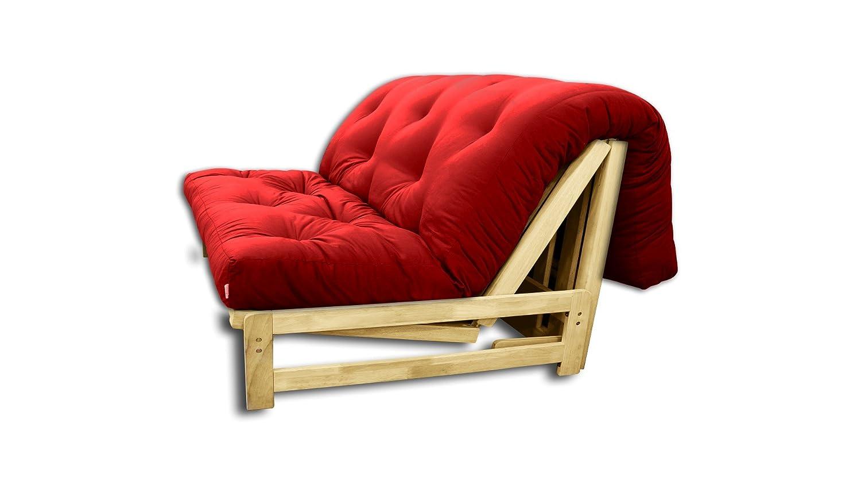 Sofabett A-Frame , Futon rot, 140x105x30 cm