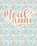 Meal Planner: Food Planner with Grocery List: Weekly Menu Planner - Hydrangea Flower Cover