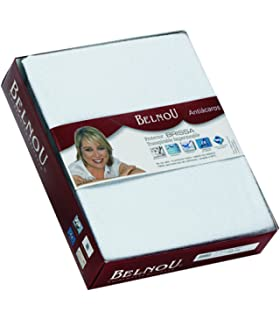 Belnou - Protector de Colchón Impermeable y Transpirable de Tencel Extrasuave con lámina PU, Blanco