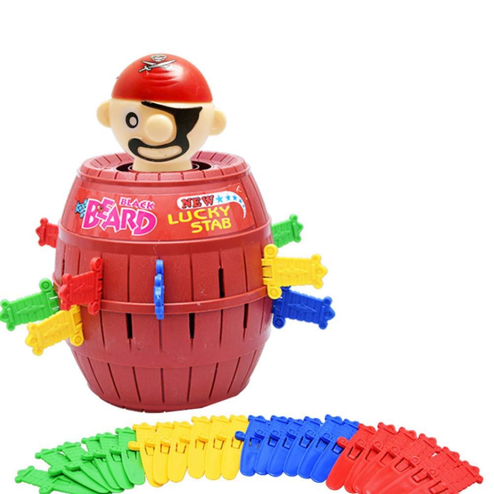 mxdmai Pirate Spiel Aktionsspiel Kinder und Familie Spielzeug Lustige Piraten Eimer Glü ck Stab Geschicklichkeit Spielzeug Party-Spiel zufä llige Farbe (L)
