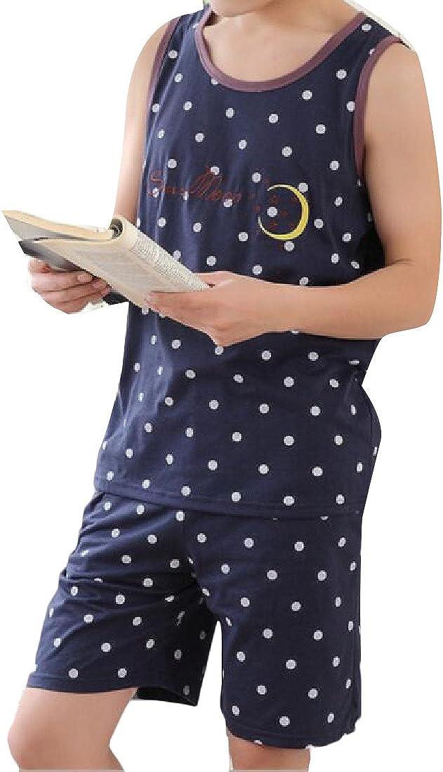 LinkShow Mens Floral Print Stripes Stylish Thin 100/% Cotton Pj Set