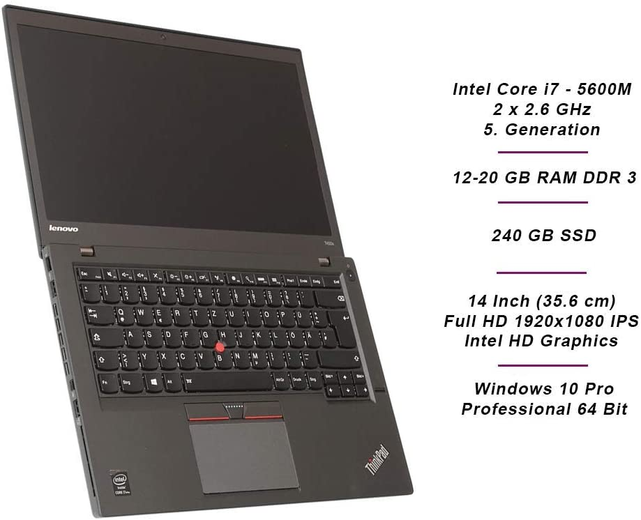 Lenovo Thinkpad T450s Business Notebook Intel I7 2 X Computers Accessories