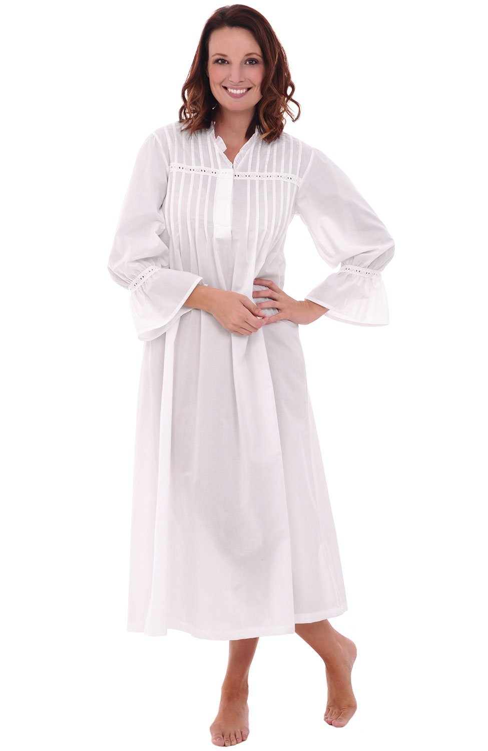 Womens Romeo and Juliet Cotton Nightgown,Bell Sleeve Victorian ...