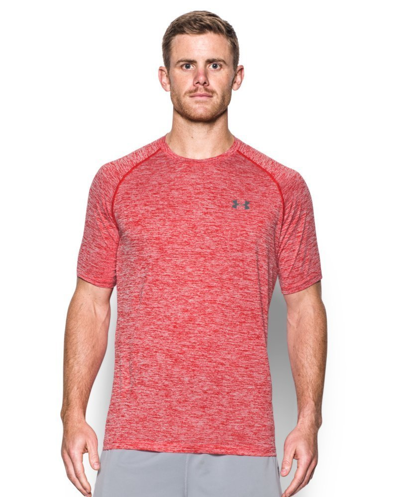Under Armour Men's Tech Short Sleeve T-Shirt, Red/Graphite, Large by Under Armour