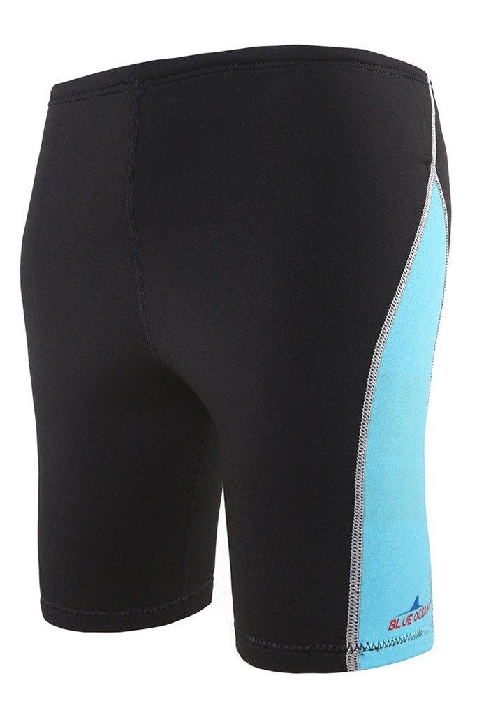 Mens 1.8mm Neoprene Wetsuit Diving Pants Rash Guard Shorts