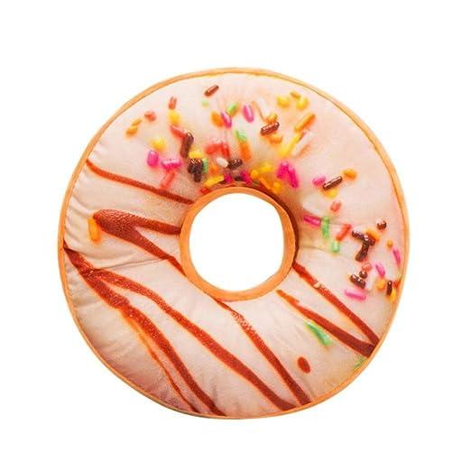 Fundas De Cojines, ❤️Xinantime Almohada de felpa suave Almohadilla de asiento relleno Sweet Donut Foods Funda de cojín Juguetes (❤️Multicolor H)