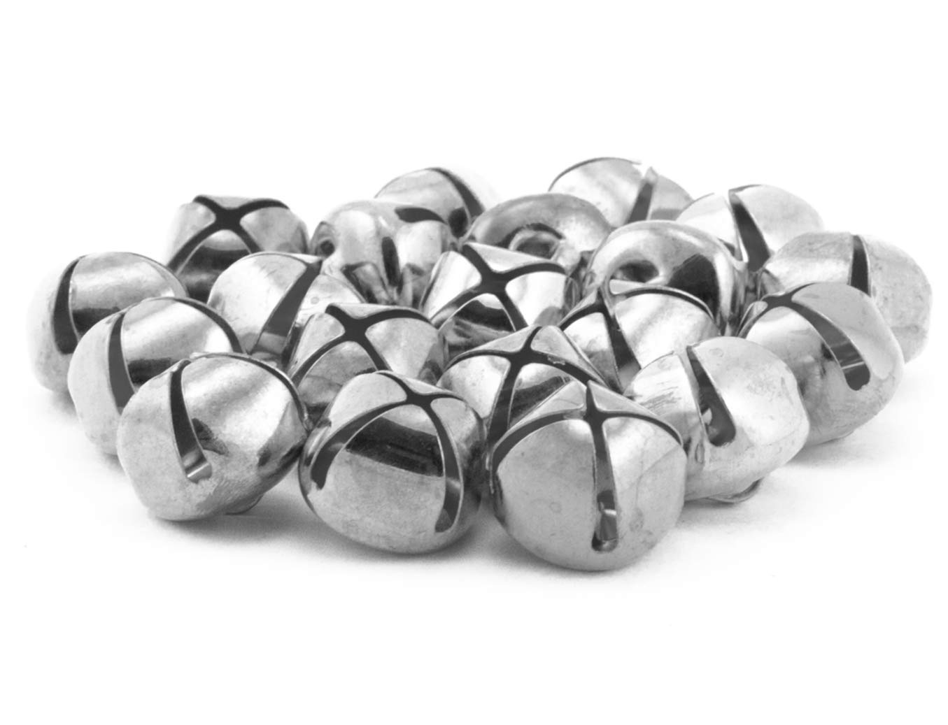 5//8 Inch 16mm Silver Craft Jingle Bells Charms Bulk Wholesale 100 Pieces
