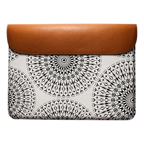 Macbook DailyObjects Envelope Air Leather Real Geometric Mandalas For Sleeve Pro 13 wwZRfCq
