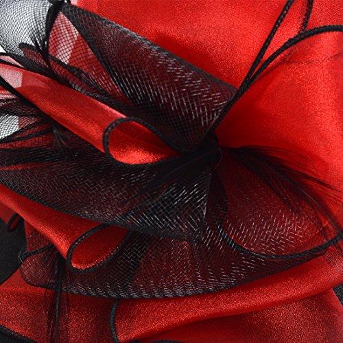VECRY Women Floral Wedding Dress Tea Party Derby Racing Church Hat