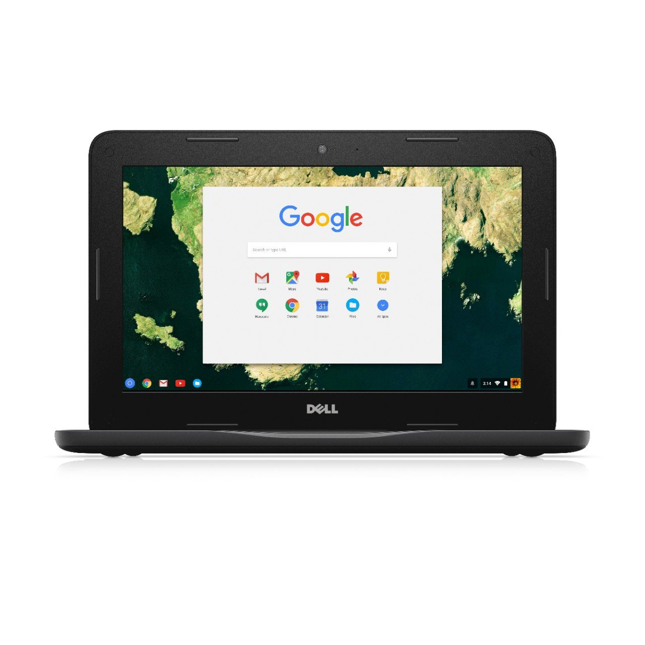 Dell Chromebook 11 3180 RH02N 11.6-Inch Traditional Laptop (Black)