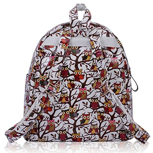 TrendStar - Bolso mochila  de piel sintética para mujer beige G - Beige G - White