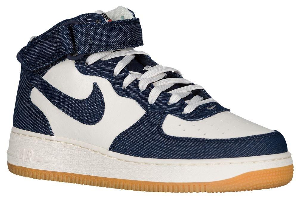 [ナイキ] Nike Air Force 1 Mid - メンズ バスケット [並行輸入品] B0721K6JDD US11.0 Obsidian/Obsidian/Sail/Gum Light Brown