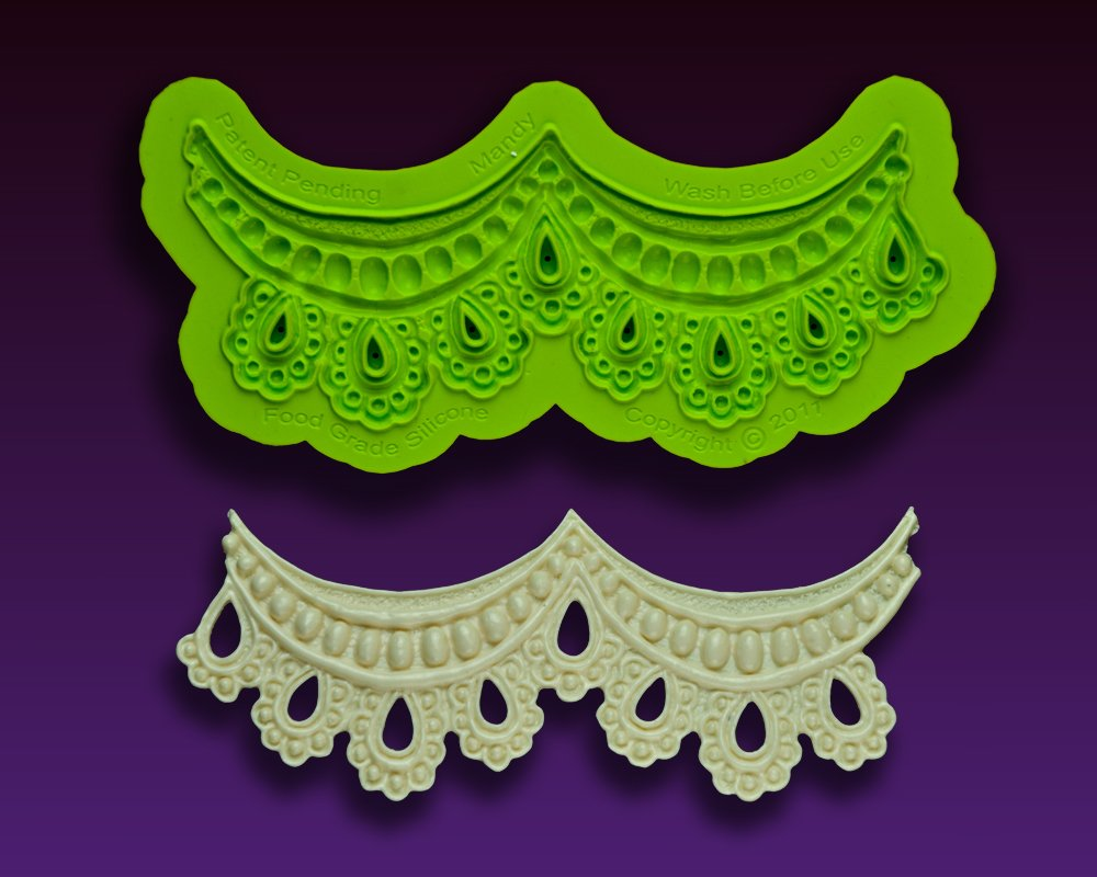Earlene's Enhanced Lace ''Mandy'' Mold by Marvelous Molds