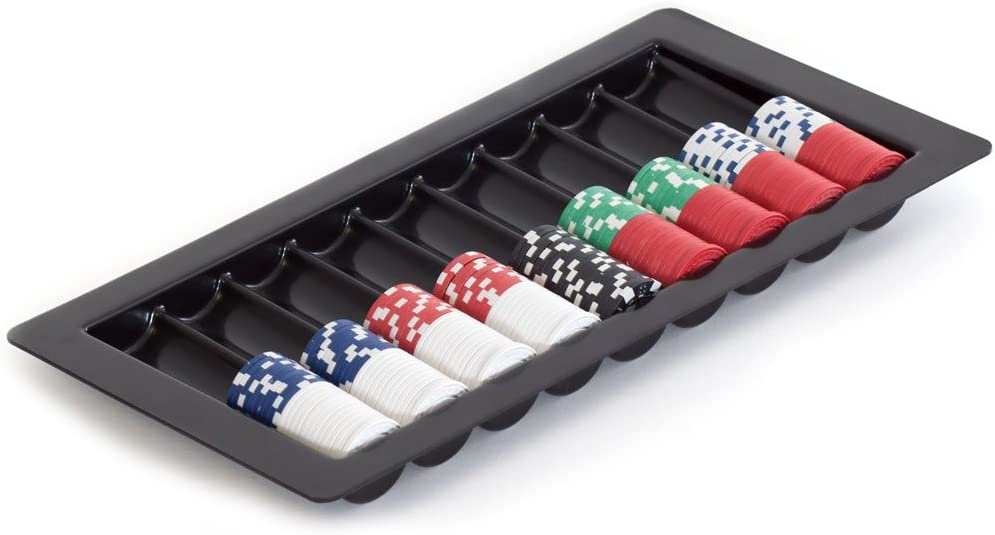GSE Games /& Sports Expert Casino Blackjack Poker Table Plastic Dealer Chip Tray with Playing Card Slots