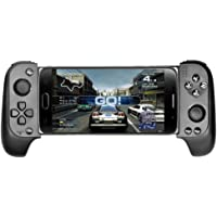 XHHWZB Wireless Controller Gamepad Wireless Bluetooth Game Telescopic Handle for Mobile TV Box (Color : Black)