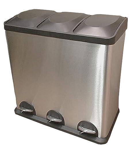 Amazon.com: Artonell Triple Compartment Trash, Recycle Bin ...