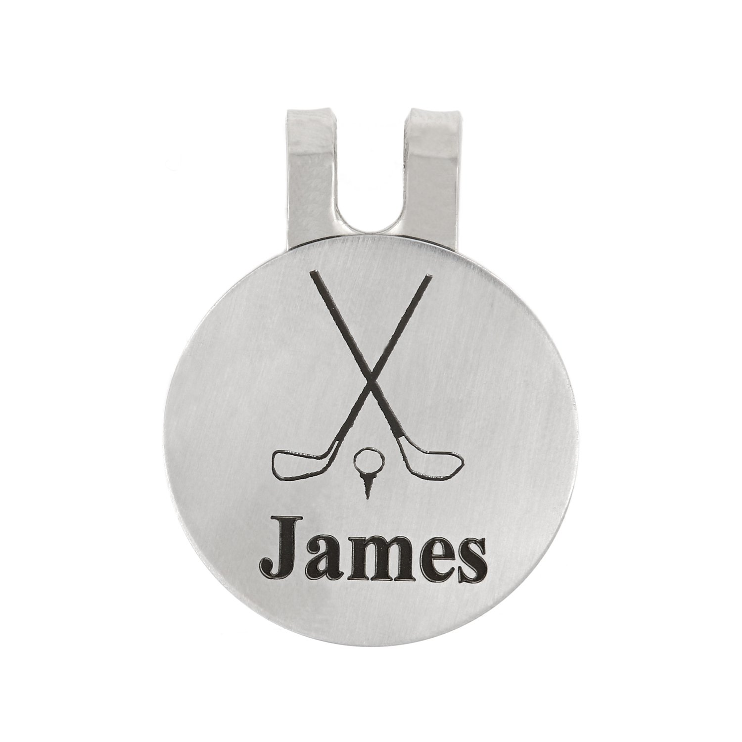 Lgu(TM Personalized Monogrammed Golf Marker, Golf Ball Marker, Pocket Token, Golf Accessory Golf Magnetic Hat Clip with Coin