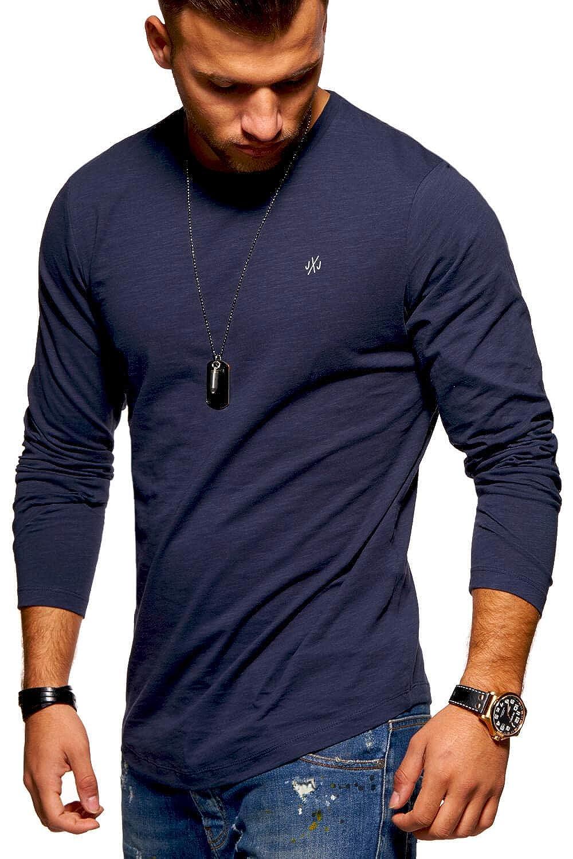JACK /& JONES Maglia Manica Lunga da Uomo Maglietta T-Shirt Shirt Top Oversize Streewear