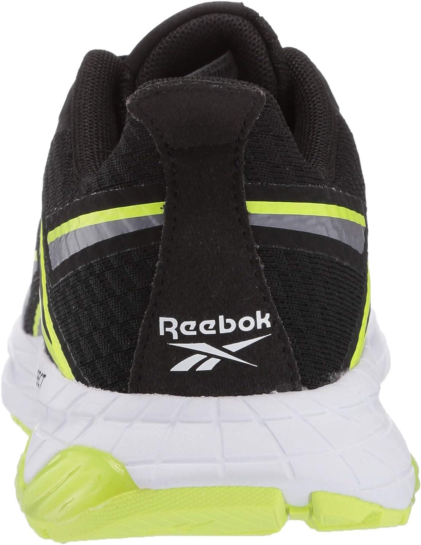 Reebok Liquifect 180 Chaussures de course pour homme Noir Gris Froid Jaune Solaire