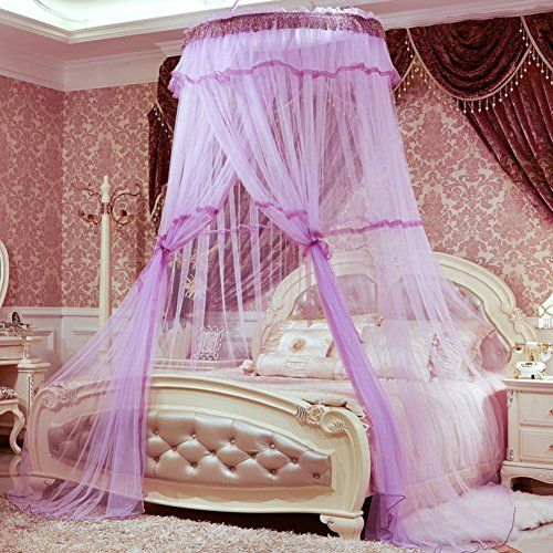 Dome suspended ceiling mosquito net,Court Floor Double Single mosquito curtain-I King by DE&QW
