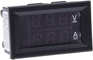 Sonline Voltmetro Amperometro Digitale Misuratore DC 100V 10A Display Blu/Rosso