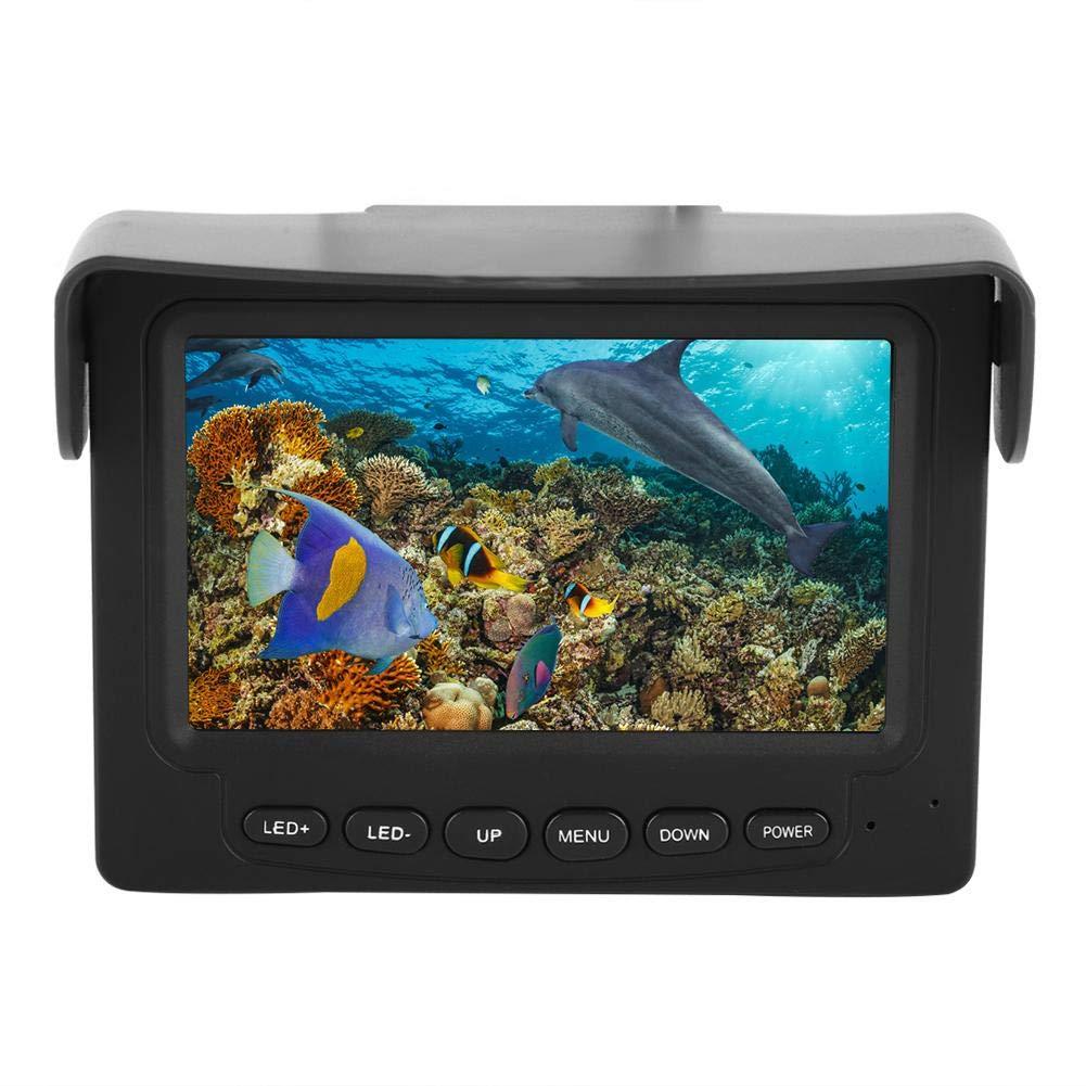 水中釣りビデオカメラポータブル4.3インチTFT HD 1000tvlレンズIP68防水8 PCS赤外線LED 20メートルケーブル魚釣り、水中探査を監視するためのプロの魚のファインダー   B07LFZRJWJ