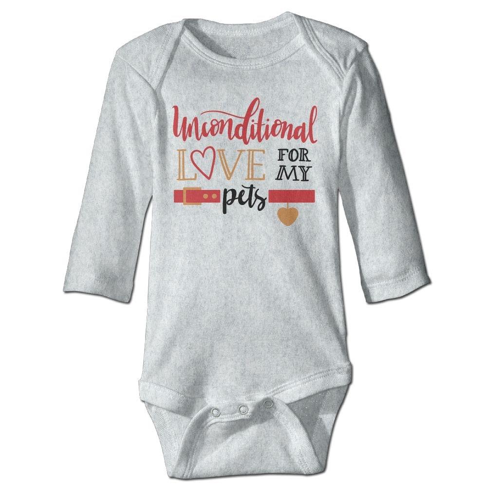 Midbeauty Unconditional Love For Pets Newborn Cotton Jumpsuit Romper Bodysuit Onesies Infant Boy Girl Clothes