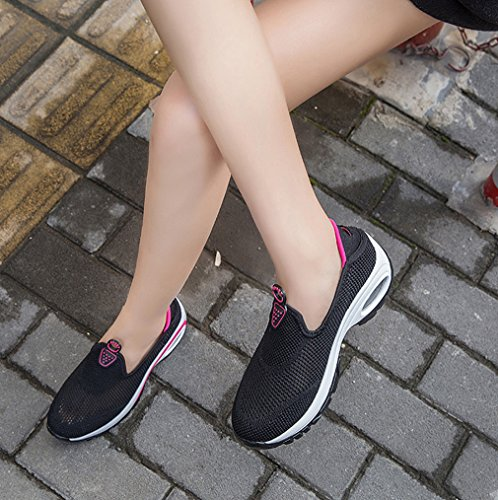 Mesh Drying Shoes Athletic Women's Cushion Quick Breathable Black Walking Air Outdoor Solshine g7wT5