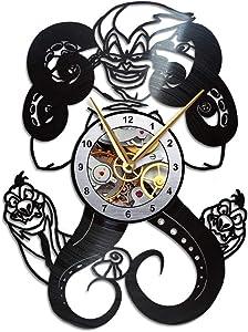 AroundTheTime Ursula Clock - The Little Mermaid Gift Decor - Vinyl Record Wall Clock