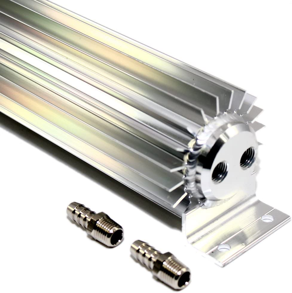 Assault Racing Products A5052X 18 Finned Aluminum Double Pass Transmission Trans Cooler Dual Line Universal