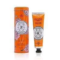 La Chatelaine Hand Cream Tin   20% Organic Shea Butter, Argan Oil & Calendula   Moisturizing & Nourishing   2.3 Oz (Orange Blossom)