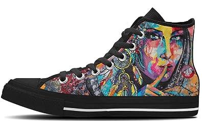 901c0a6bfae76 Amazon.com   CustomKiks High Tops Custom Canvas Shoes - Hush ...