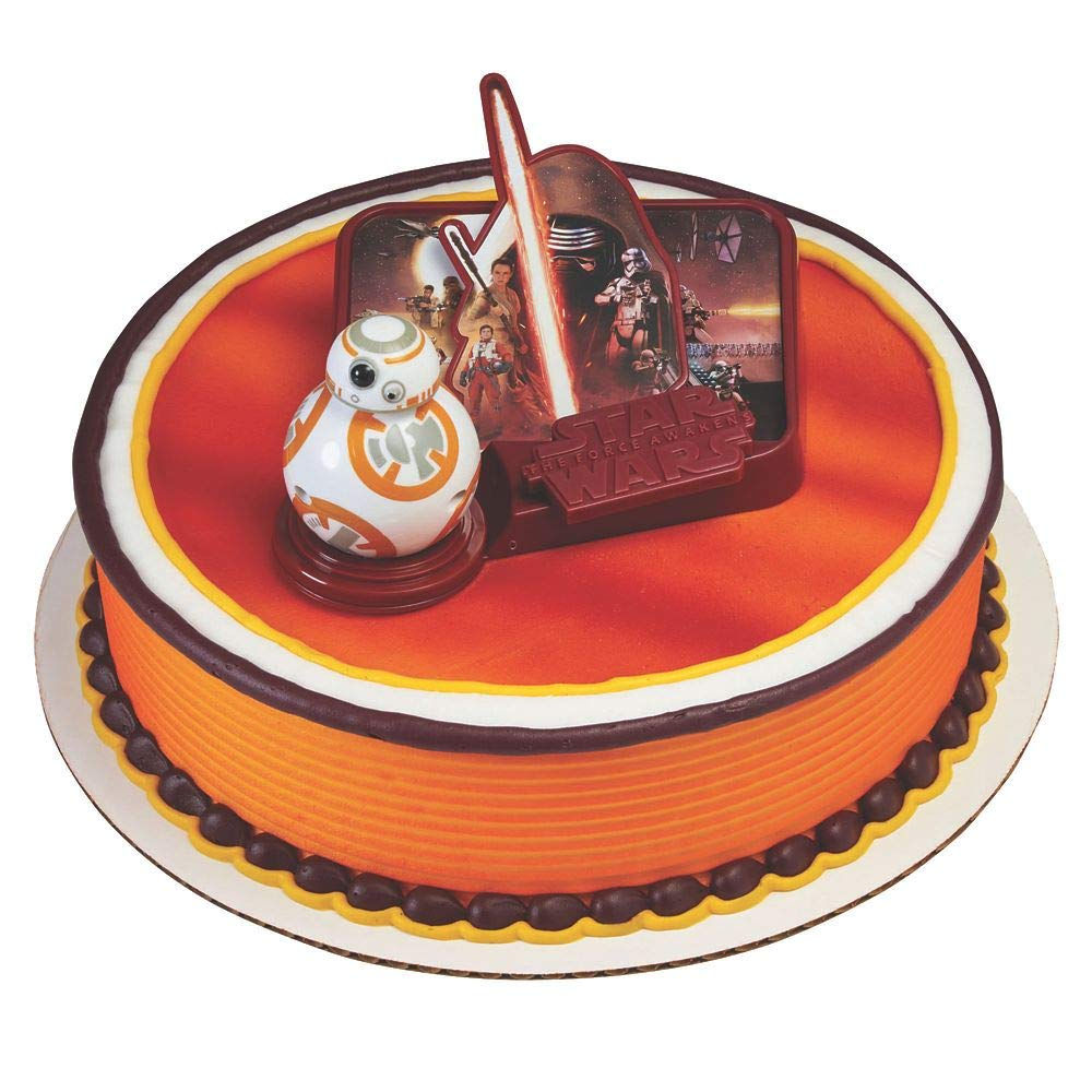 Magnificent Amazon Com Star Wars Force Awakens Birthday Cake Kit Grocery Funny Birthday Cards Online Fluifree Goldxyz