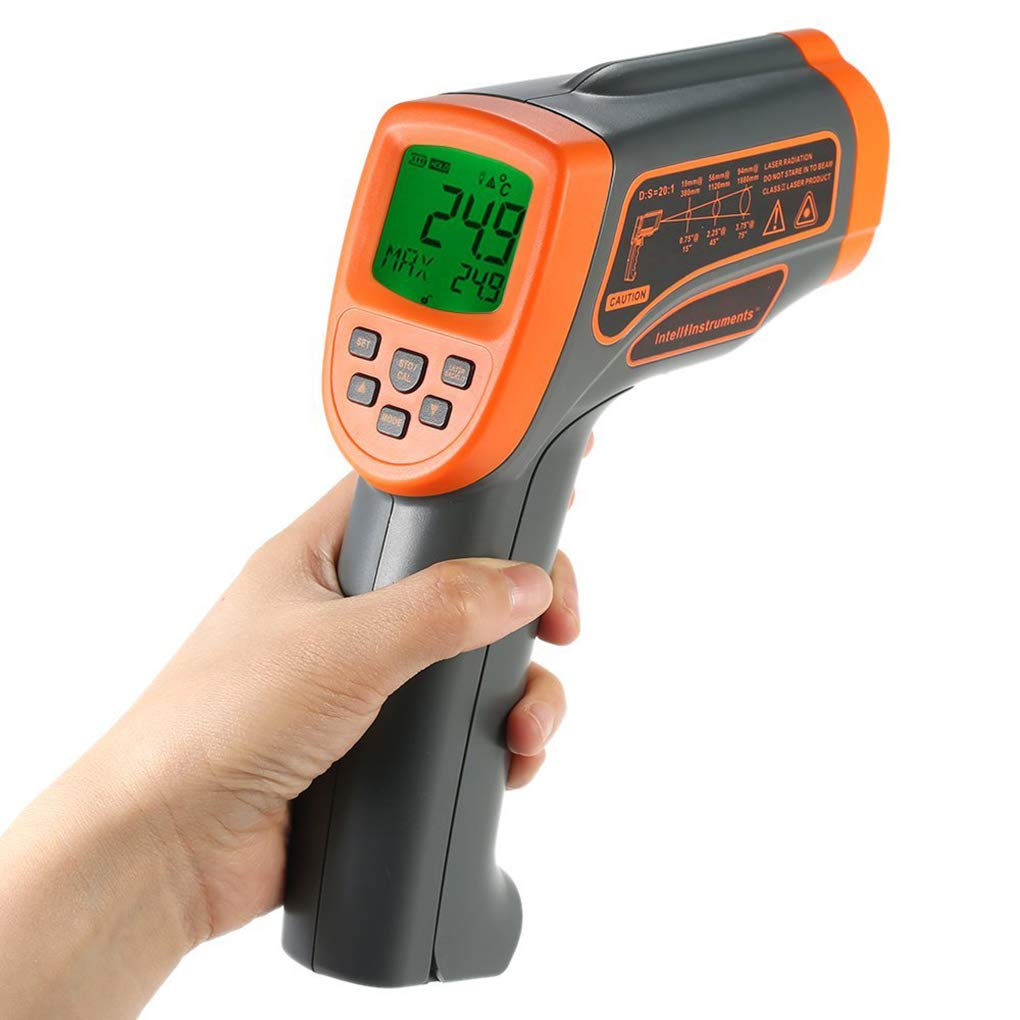 Yiruy SMART SENSOR AT1350 LCD IR Termómetro infrarrojo 50: 1 Emisividad 0.1~1.00 Ajustable -18~1350 grados Pirómetro
