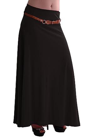 Womens gypsy long jersey maxi dress skirt