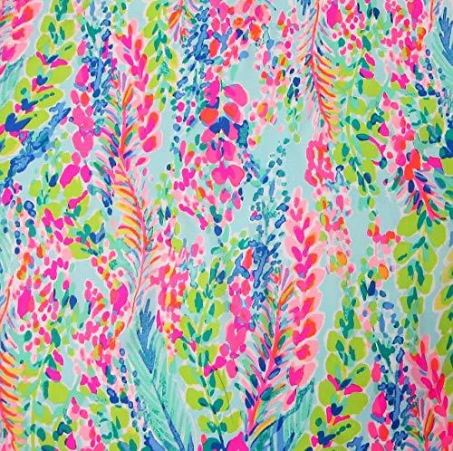 FidgetFidget Lilly Pulitzer Poplin Cotton Fabric Multi Catch The Wave 1 Yard 36