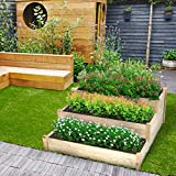 KINGSO 3 Tier Raised Garden Bed Wooden Elevated