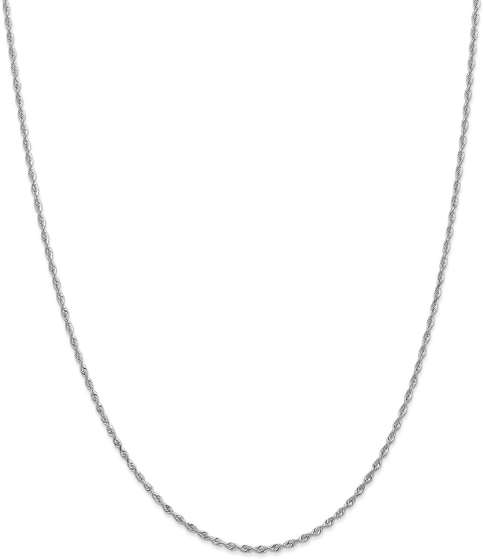 10k White Gold 1.85mm Diamond Cut Quadruple Rope Chain Necklace 24inch