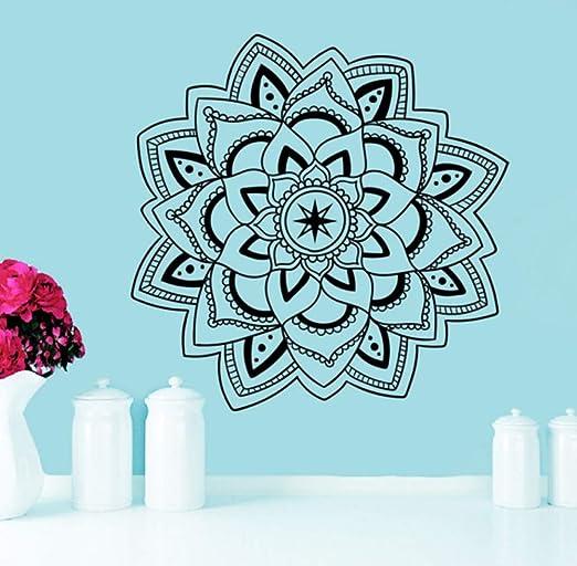 Arte extraíble Curvado Tatuajes de pared Mandala Yoga ...