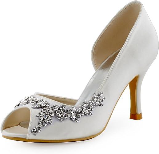 High Heel Satin Wedding Bridal Shoes